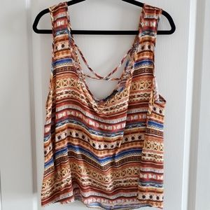 Forever 21 Cropped Print Tank Top